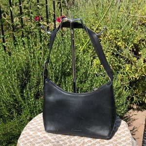 💯 authentic Prada black leather shoulder bag